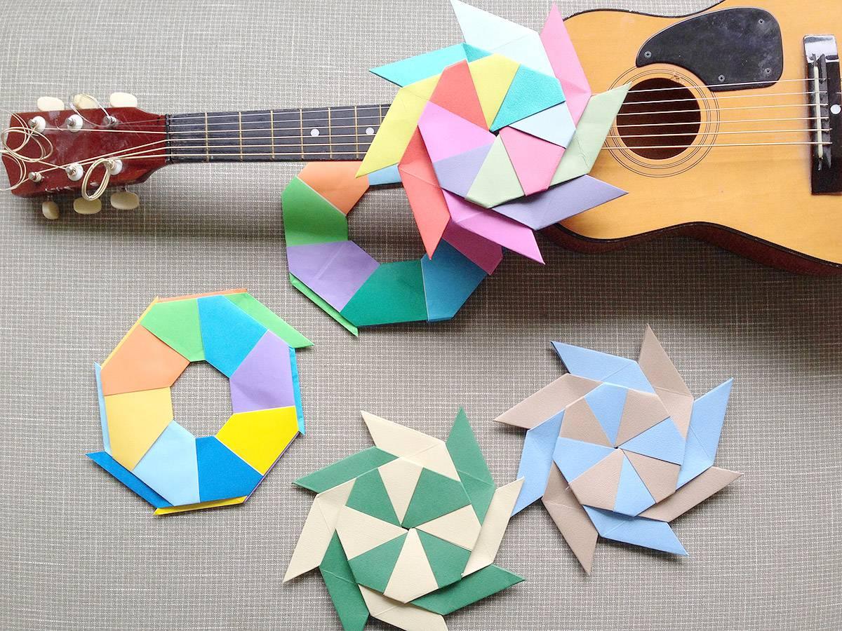 すべての折り紙 折り紙 風車 作り方 : 折り紙遊び:変形フリスビー ...