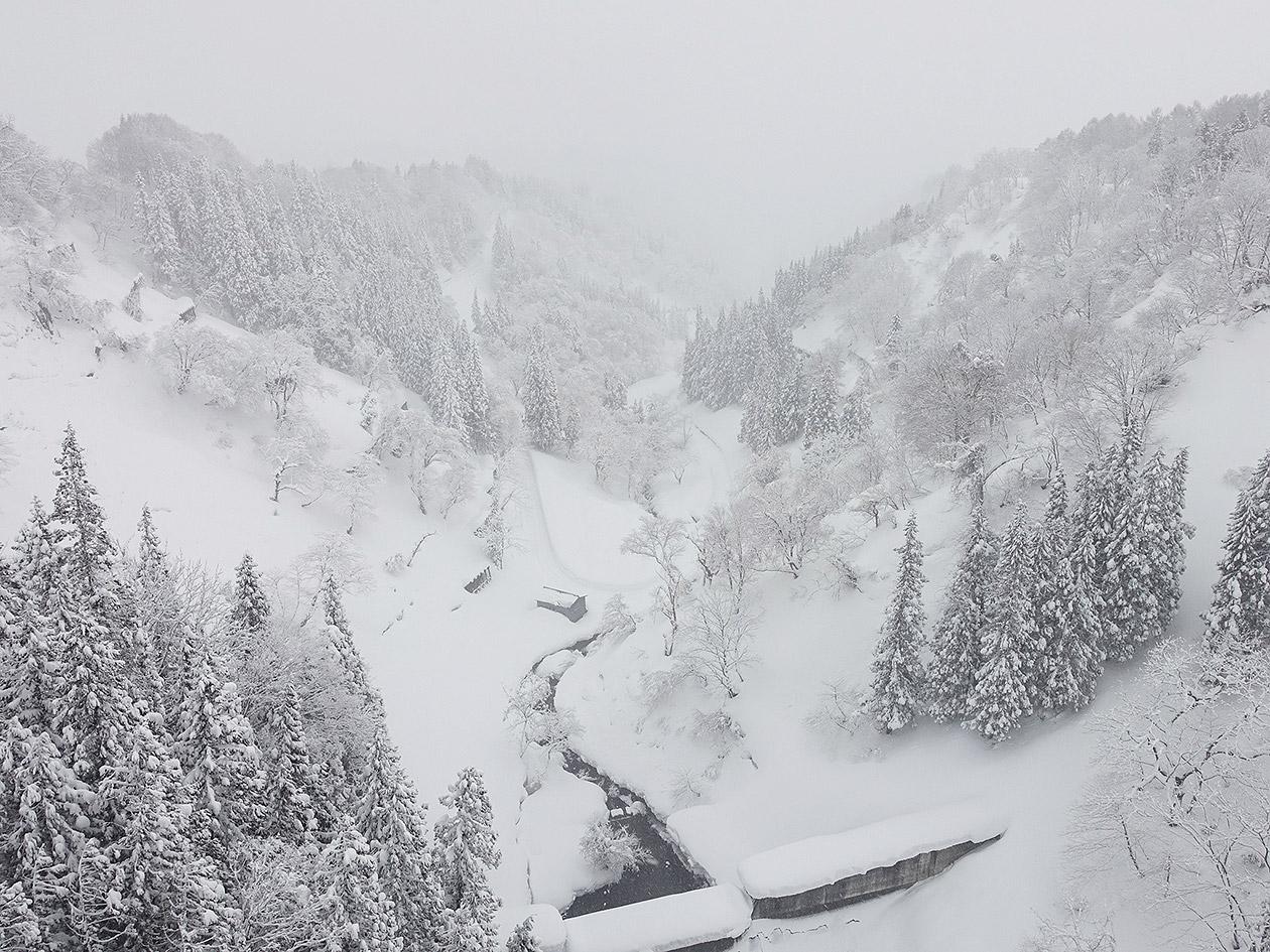 北信州の雪景色